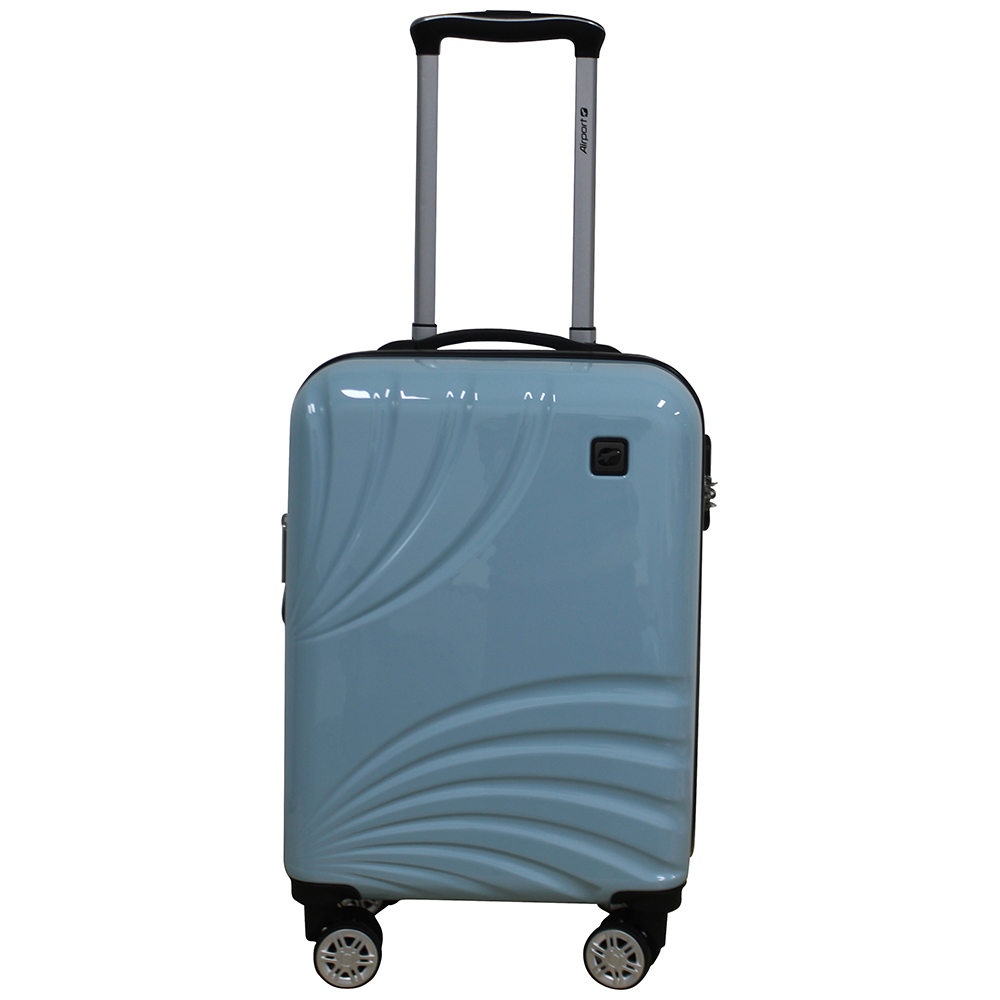 Чемодан Airport POEME блакитний, 8 коліс, 50 см