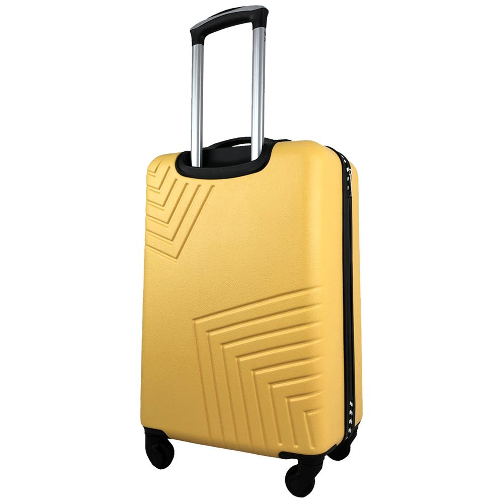 Чемодан Airport DISCO жовтий, 4 колеса, 50 см