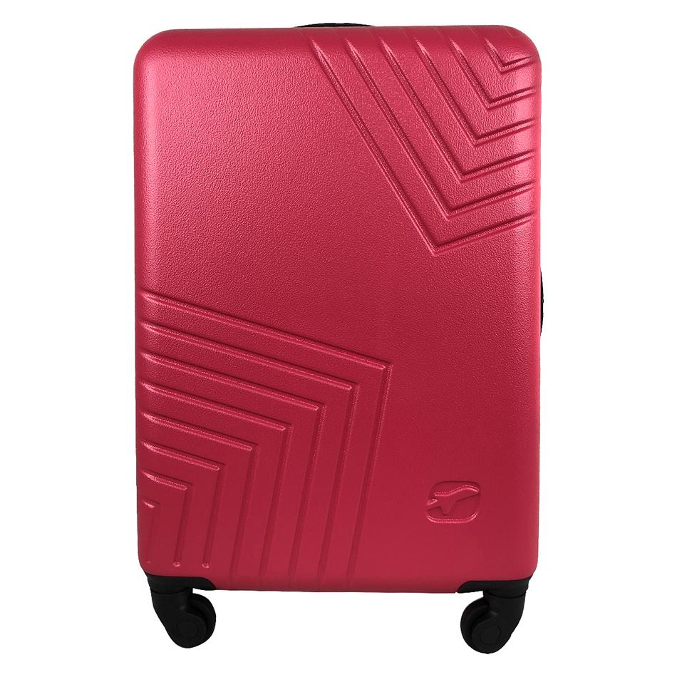 Чемодан Airport DISCO рожевий, 4 колеса, 50 см