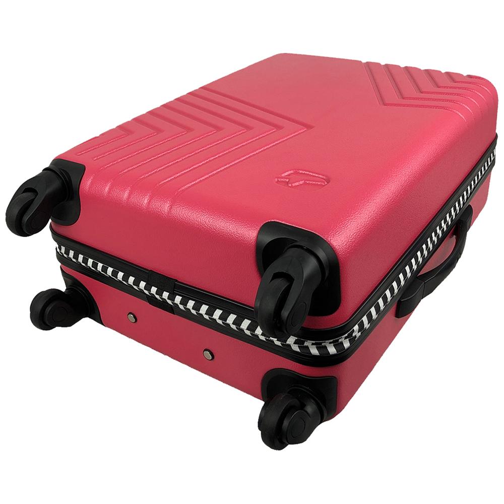 Чемодан Airport DISCO рожевий, 4 колеса, 60 см