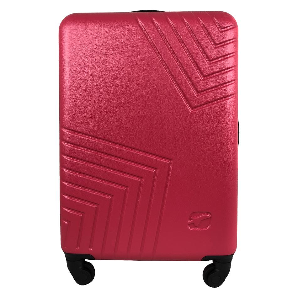 Чемодан Airport DISCO рожевий, 4 колеса, 70 см