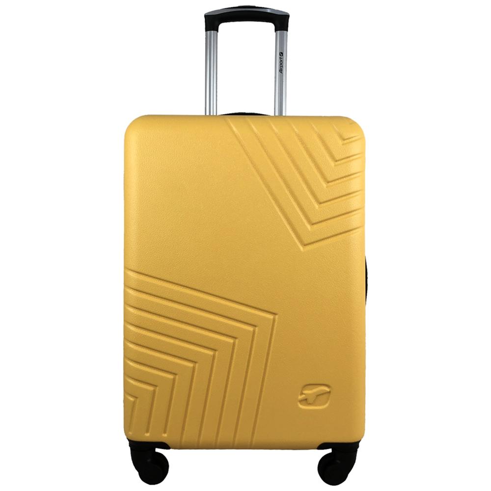 Чемодан Airport DISCO жовтий, 4 колеса, 70 см
