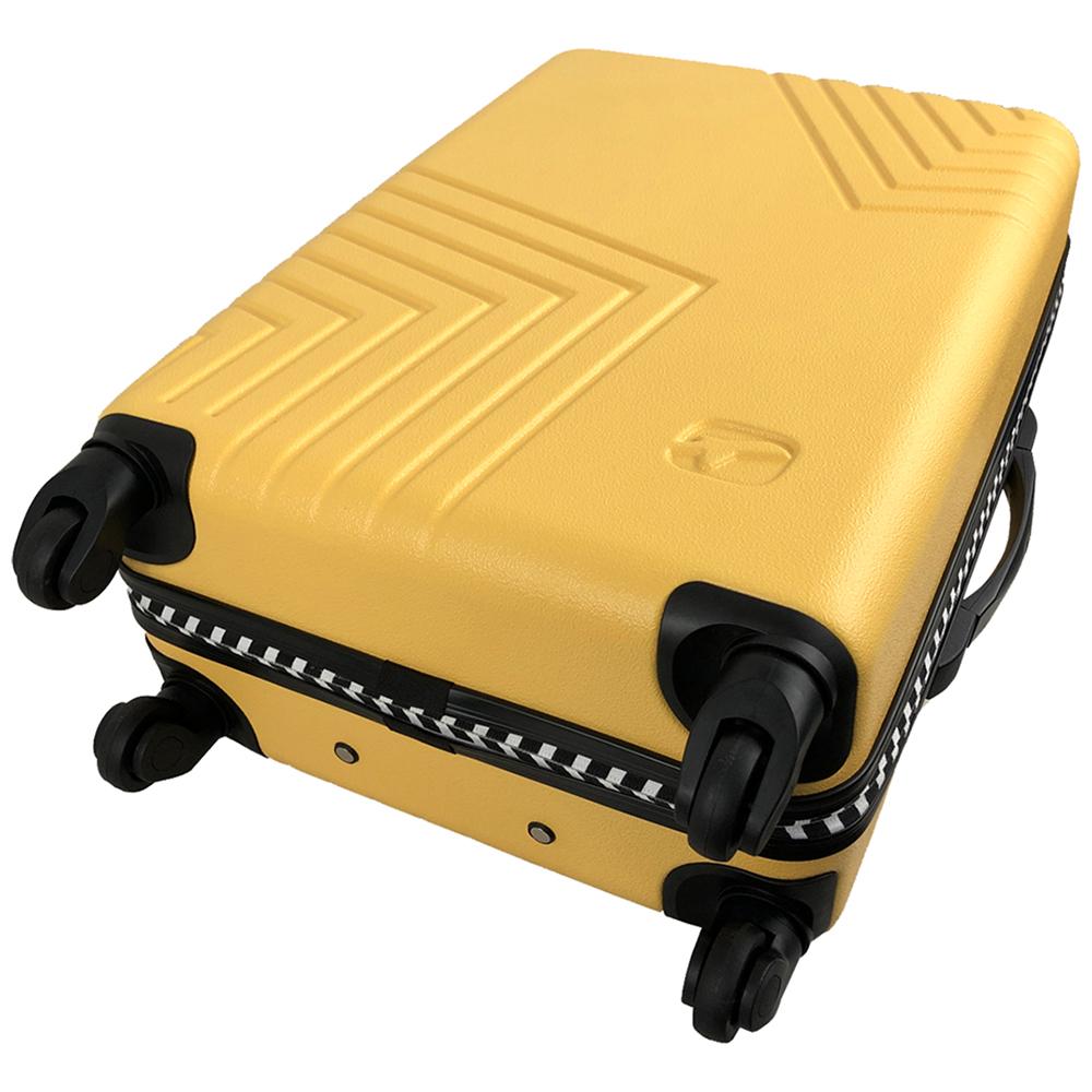 Чемодан Airport DISCO жовтий, 4 колеса, 60 см
