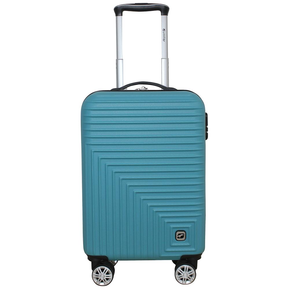 Чемодан Airport HYPNO 8 коліс синій, 55см