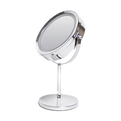 Косметичне дзеркало Eco Fabric з LED-підсвіткою, нержавіюча сталь