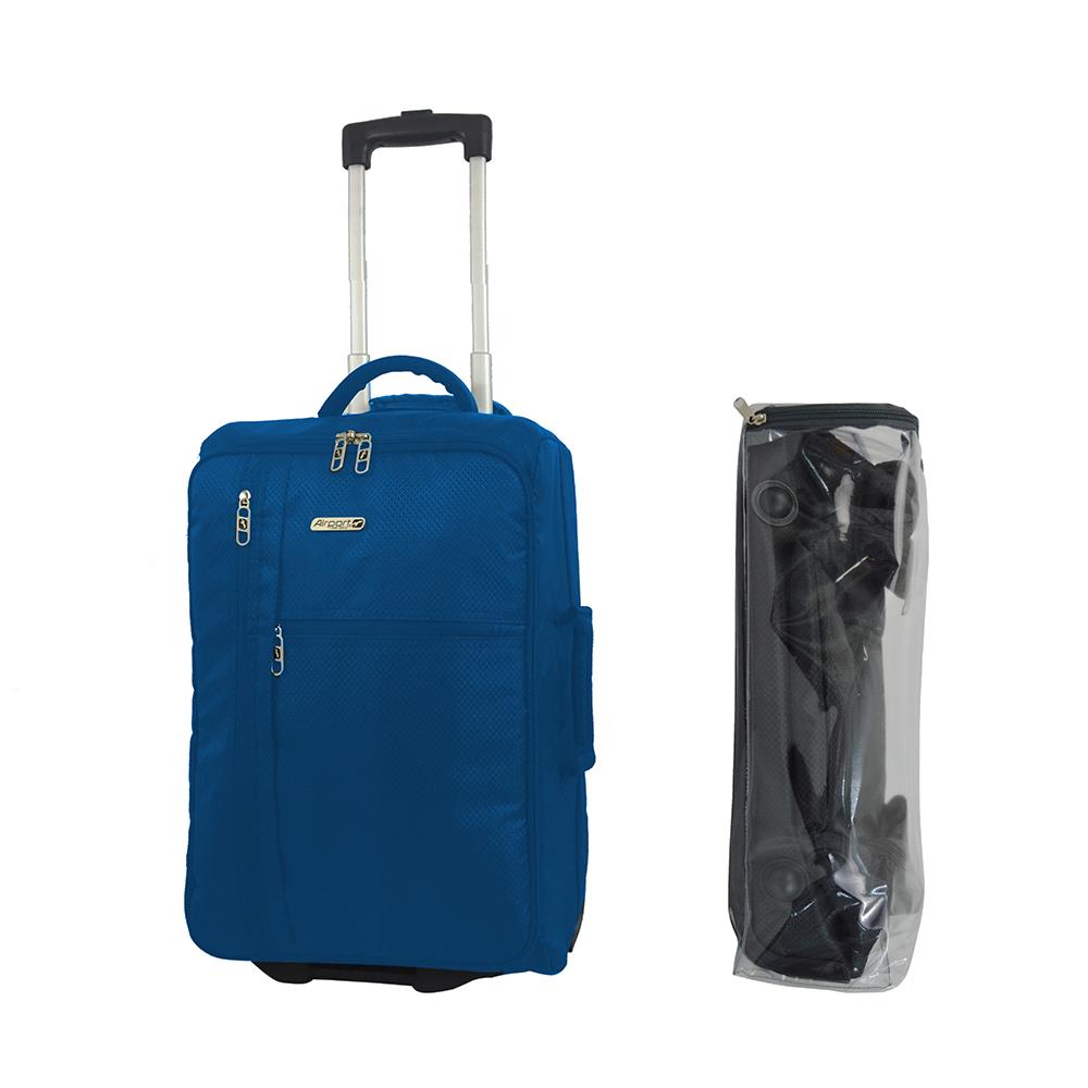 Валіза Airport 890481 синя, 2 колеса, 30,6 л, 20х34x50 см